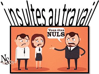 insulte au travail par le patron