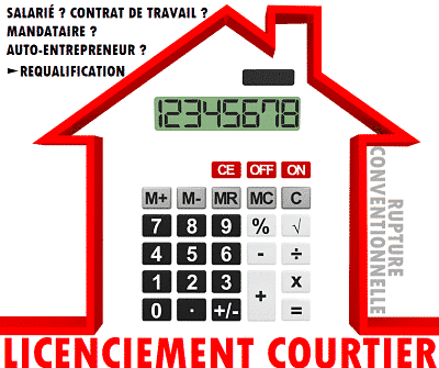 licenciement courtier; rupture conventionnelle courtier