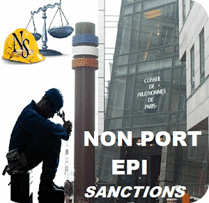non port epi licenciement;sanction non port epi