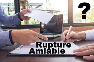 rupture amiable