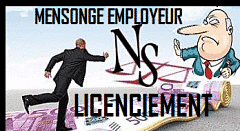 mensonge employeur licenciement