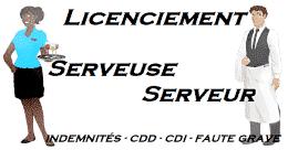 licenciement serveur