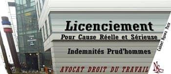 avocat spécialisé droit du travail; licenciement pour cause réelle et sérieuse; meilleur avocat droit du travail paris;avocat spécialiste prud'hommes
